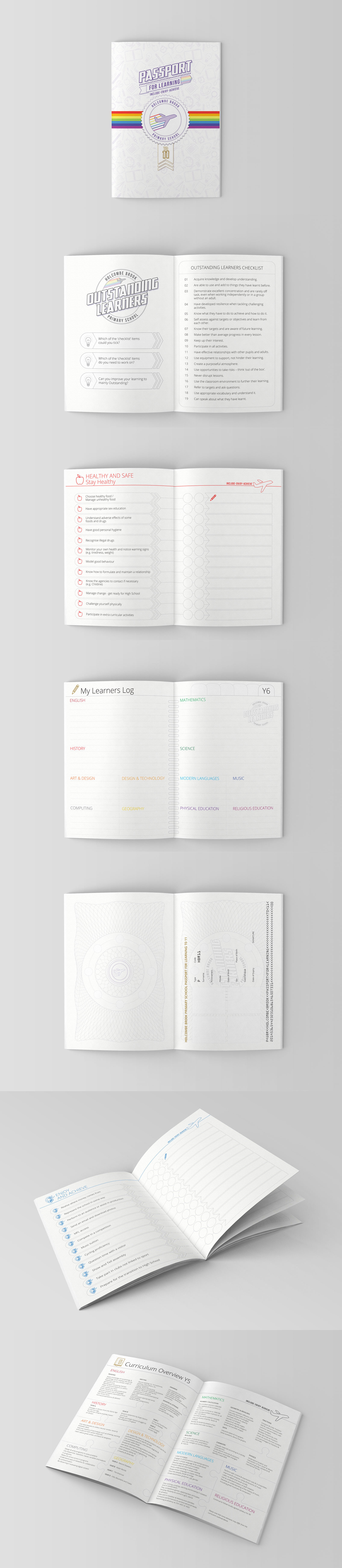 Passport For Learning - Primary School Guide Booklet Graphic Design Overview